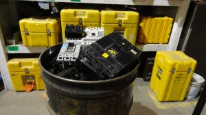 Barrel of Scrap Circuit Breakers